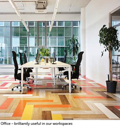 ERFMI resilient flooring for offices